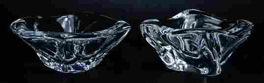 2 LARGE DAUM CRYSTAL BOWLS