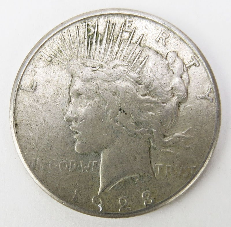 1923 Peace Dollar. This Coin IS NOT Professionally