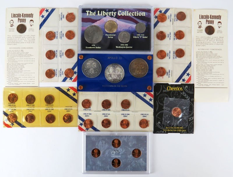 Collection of American Coins All Encased 10 Separate