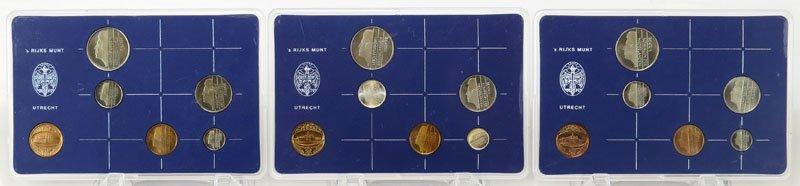 1982,1983 and 1984 Muntset Nederland Coin Sets.