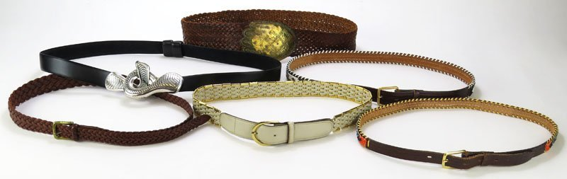 Collection of Six (6) Assorted Belts. Approximately