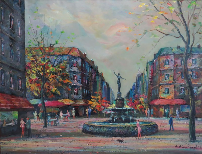 after: Antoine Blanchard (FRENCH, 1910-1988) Oil on