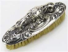 Unger Brothers Art Nouveau Sterling Silver Finger Brush