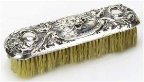 Unger Brothers Art Nouveau Sterling Silver Brush in the