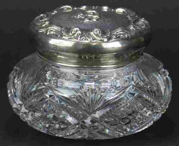Unger Brothers Art Nouveau Sterling Silver and Crystal