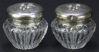 Two (2) Unger Brothers Art Nouveau Sterling Silver and