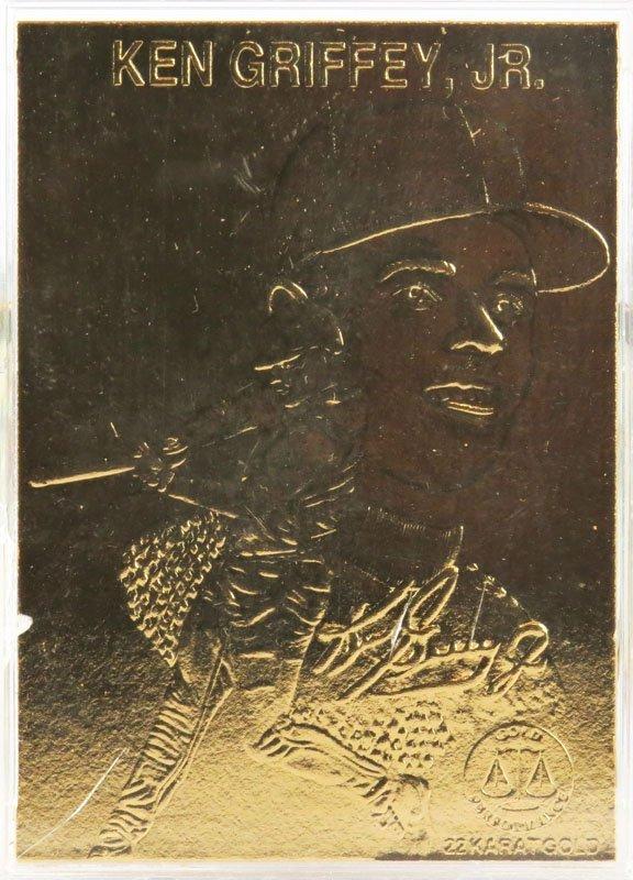 1996 Gold Plated Ken Griffey Junior Baseball Card