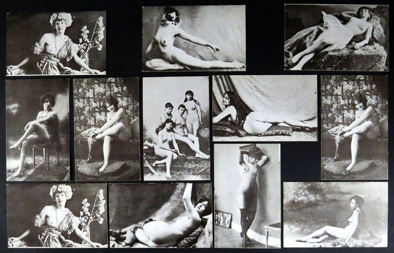 Twelve (12) 1920's to 1950's Erotic Arcade Prints.