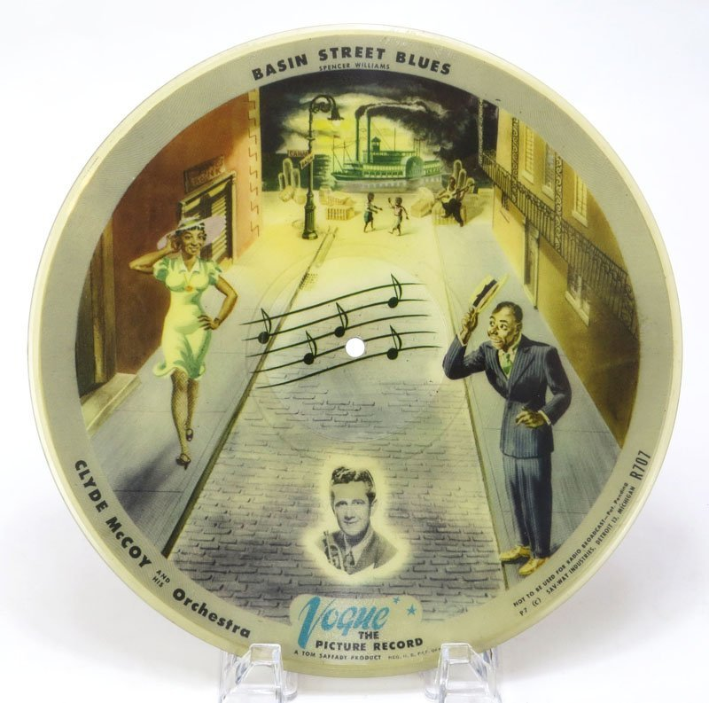 1940's Vogue The Picture Record Basin Street Blue and