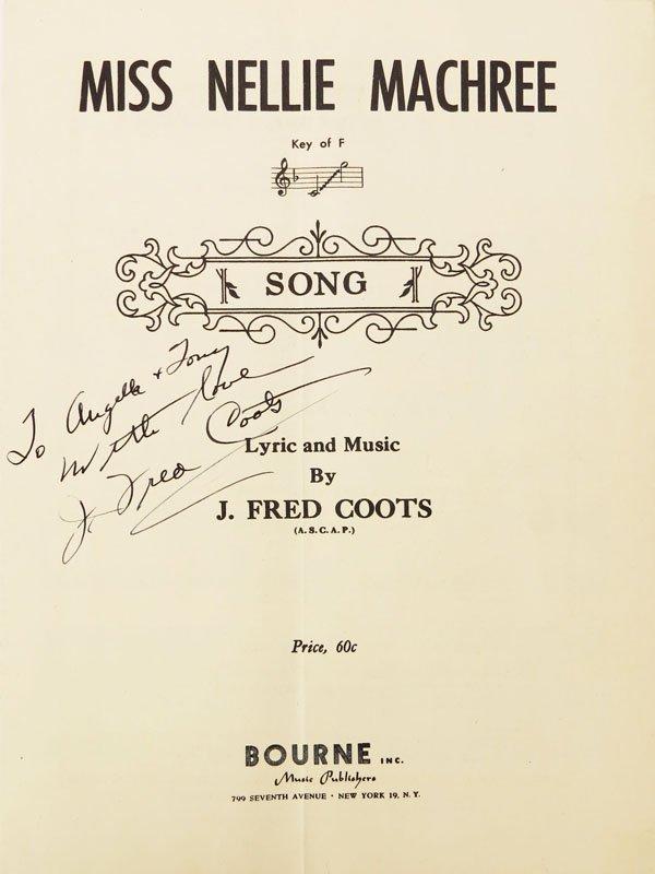 John Frederick Coots American-New York (1897-1985) Hand