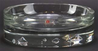 Tapio Wirkkala Littala Signed Clear Crystal Art Glass