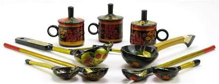 Set of Kadadinsky and Lipesk Factory Russian Hand
