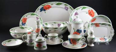 Sixty Four (64) Piece Villeroy and Boch Porcelain