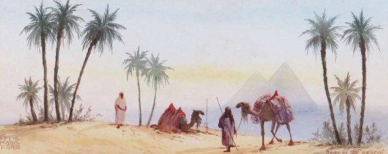 Effie Marie Ford Australian (20th Century) Watercolor
