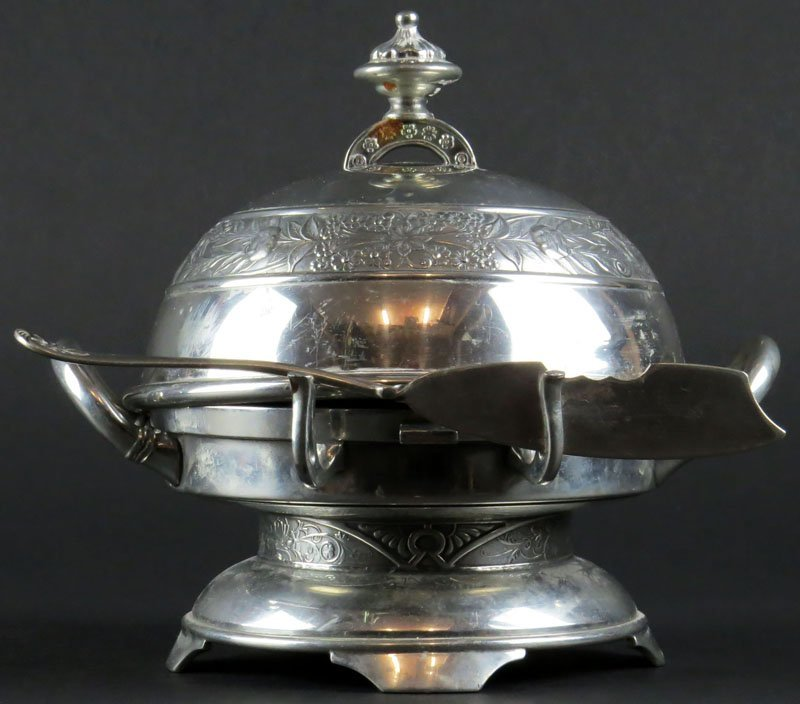 Rogers Brothers Victorian Silver Plate Butter Server.