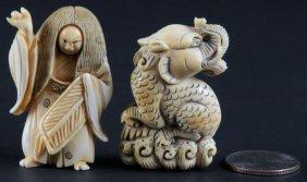 20th Century Japanese Carved Ivory Signed Netsuke