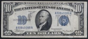 Series 1934A United States of America Ten Dollar Silver