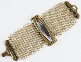 Signed Ferrara Costume Jewelry Bracelet Good Condition.