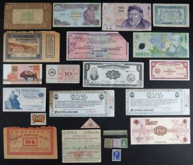 Lot of Various Foreign Currency and Fractional Notes, a