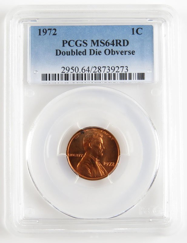 PCGS 1972 Double Die Obverse Lincoln Penny MS64RD