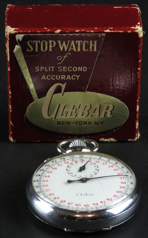 Clebar Stop Watch in Running Condition. Has Original