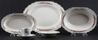 W. S. George Porcelain Dinner Ware in the Lido Pattern.