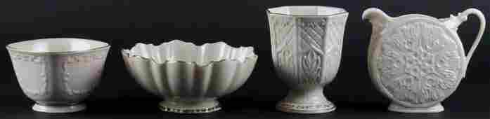 Four 4 Lenox Porcelain Tabletop Items Each Signed