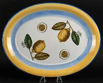 Villeroy  Boch Ceramic Platter with Lemon Decoration