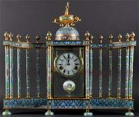 Extra Large Chinese Cloisonné Mantle Clock with Time