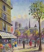 Modern French School Framed Oil on Canvas French