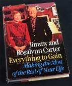 Everything to Gain Signed Autograph by Jimmy Carter &