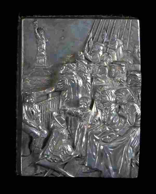 Rare Henryk Winograd .999 Pure Silver Immigration To