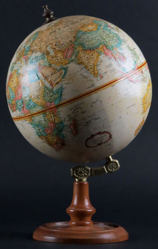 Replogle Desktop Globe on Wooden Stand. World Classic
