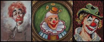 Leighton Jones British 20th Century Textured Clown