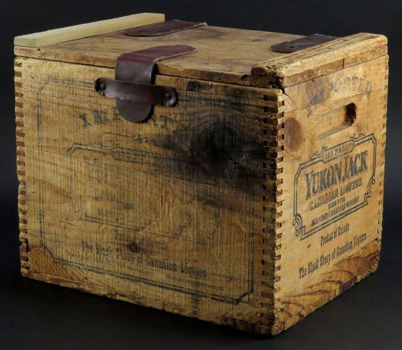 Vintage Yukon Jack Canadian Liquor Whiskey Crate. Wear