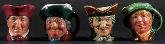 Collection of Four (4) Miniature Royal Doulton Toby