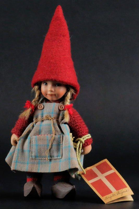 Danish Doll Artist Birgitte Frigast Porcelain Doll