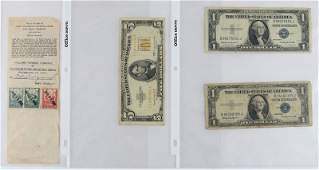 Series 1953B Five Dollar US Note together with Two 2
