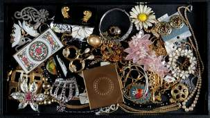 Miscellaneous Lot of Costume Jewelry, Mostly Necklaces