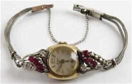 Retro Mallard 17 Jewel Diamond and Ruby Mounted Gold