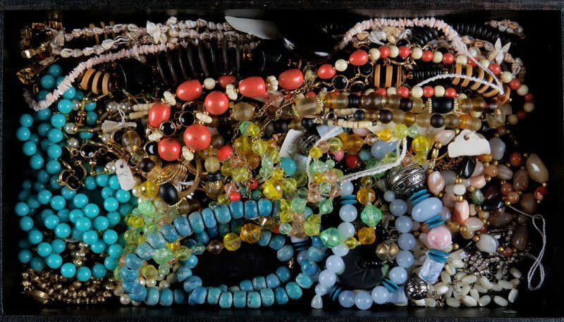 Miscellaneous Lot of Chunky Costume Jewelry Necklaces.
