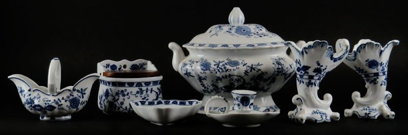 Seymour Mann Japan Vienna Woods Fine China Blue and