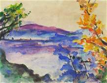 after: Lovis Corinth German (1858-1925) Watercolor on