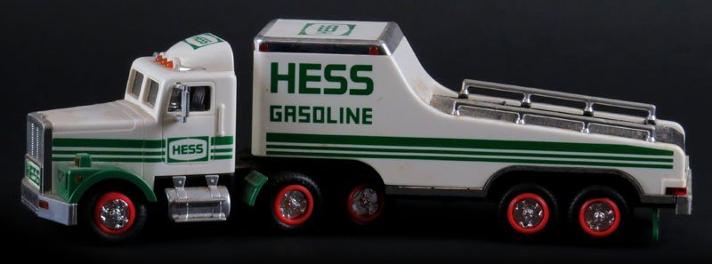 1991 Hess Toy Gasoline Flatbed Truck, No Box. Good