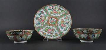 Two 2 19th Century Chinese Export Porcelain Rose