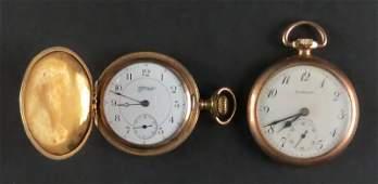 Two 2 Gold Filled Vintage or Older Pocket Watches