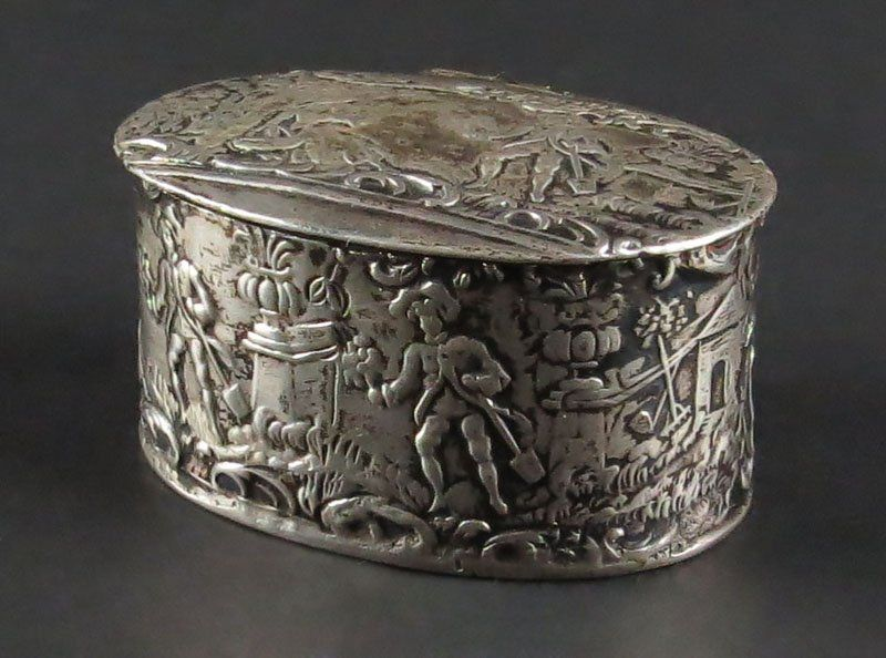 Antique Miniature Continental Sterling Silver Box.