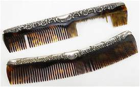 Two 2 Unger Brothers Sterling Silver Art Nouveau Comb