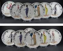Six (6) Villeroy & Boch Porcelain Dinner Plates in the