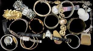 Tray Lot of Vintage to Antique Bracelets Fashion